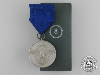 A Third Reich Period German 8-Year Long Service medal in its Original Case of Issue