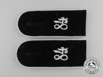 A Pair of Wehrmacht 84th Infantry Division Enlisted Man's Shoulder Boards