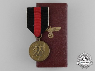 A Sudetenland Commemorative Medal in its Original Case of Issue