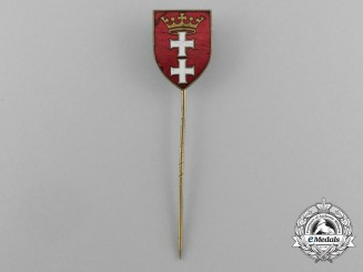 Germany, Wiemar Republic. A Danzig Freikorps-Shield Stick Pin