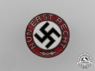 "A ""Now More Than Ever"" NSDAP Party Member's Badge; Marked"