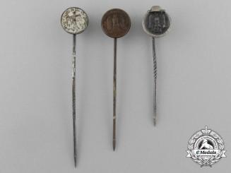 A Grouping of Three Second War German Miniature Stick Pins