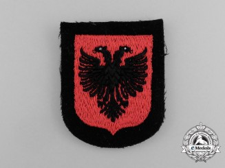 A Mint Waffen-SS Albanian Foreign Volunteer Sleeve Shield
