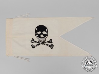"A German Imperial ""Totenkopf"" Hussar's regiment pennant"