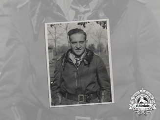A Wartime Photo of Golden Oak Leaves recipient Colonel Hans-Ulrich Rudel