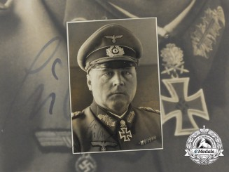 A Signed Wartime Photo of Colonel General Hans-Valentin Hube