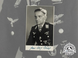 A Post War Signed Picture by Hans-Ulrich Rudel