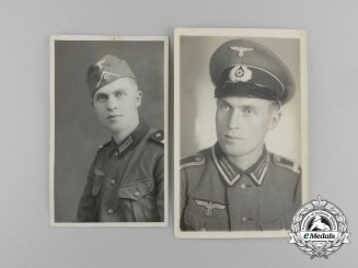 Two Wartime Photographs of Wehrmacht Soldier Karl Labitzke
