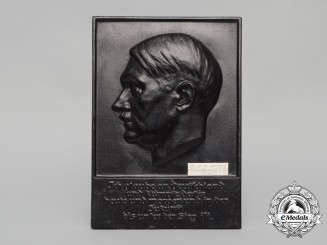 A 1939 First Prize Plaque Presented to a Member of the 4th Panzerabwehr Battalion 10
