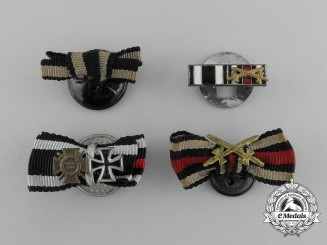Four Second War German Award Boutonnieres