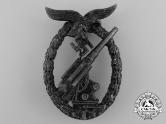Germany, Luftwaffe. A Flak/Anti-Aircraft Badge by Walter Henlein, Gablonz