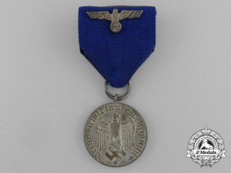 A Four-Year Wehrmacht Heer (Army) Long Service Medal; 4th Grade