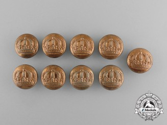 Nine Pre-First War Bavarian Army Tunic Buttons