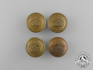 Four Prussian Army Tunic Buttons