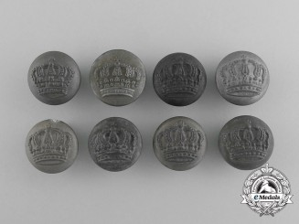 Eight Bavarian Tunic Buttons