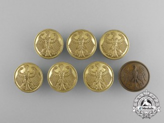 Seven Administrative/Government Tunic Buttons