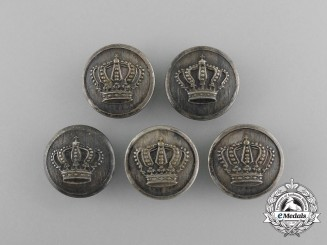 Five German Imperial Crown Buttons