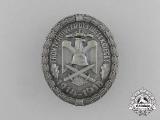 An Association of German Veterans Badge for Front Fighters of the World War 1914-1918