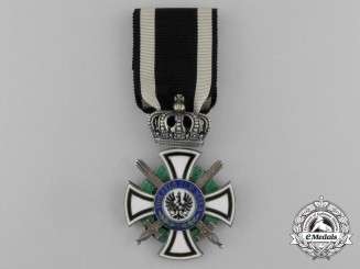 Prussian  House Order of Hohenzollern; Knight's Cross with Swords by Friedlander