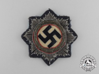 A Uniform Removed Luftwaffe German Cross in Gold by C. E. Juncker