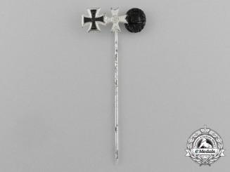 A First & Second War German Award Stick Pin by Foester & Barth
