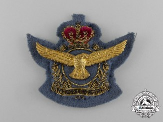 A QEII South African Air Force (SAAF) Officer's Cap Badge