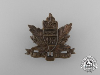 "A First War 97th Infantry Battalion ""Toronto Americans"" Cap Badge"