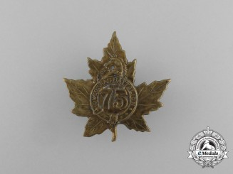 A First War 75th Infantry Battalion Cap Badge