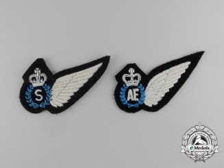 Two QEII Royal Australian Air Force (RAAF) Wings