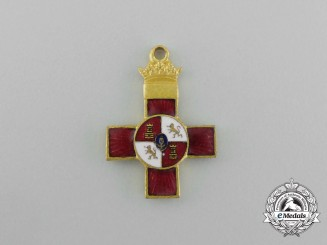 A Miniature Spanish Franco Era Order of Military Merit with Red Distinction