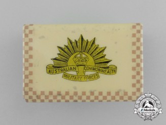 A First War Australian Commonwealth Military Forces Matchbox Cover