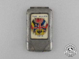 A First War Allied Nations Matchsticks Container