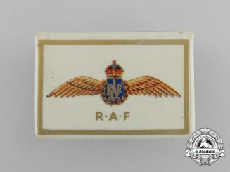 A First War Royal Air Force Matchbox Cover