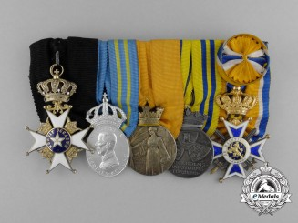 A Fine Swedish Officer's Award Grouping to G.T.C. Ehrenborg