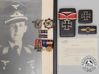 A Posthumously Awarded Knight's Cross Group to Squadron Leader of Kampfgeschwader 77