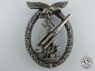 An Early Luftwaffe Flak Badge by Brehmer