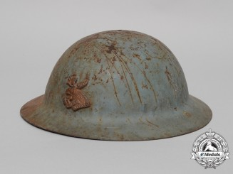 A First War 4th Canadian Mounted Rifles Regiment Helmet