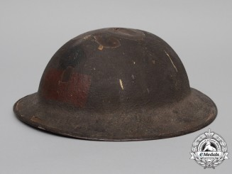 A 13th Infantry Battalion;1st Canadian Division Helmet