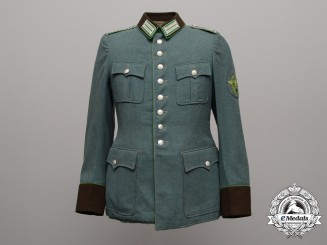 A Reich Protection Police Gendarmerie Headquarters Head Guard (Revieroberwachtmeister) Tunic 1940