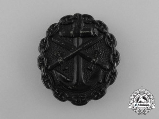 A First War German Naval Wound Badge; Black Grade