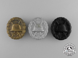 Three First War German Imperial Wound Badges