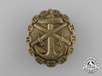 A First War German Naval Wound Badge' Gold Grade