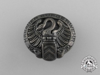 """A Hanau Citizens Service """"Hanauer Bürgerwehr"""" Badge 1919"""