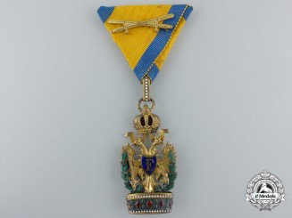 An Austrian Order of the Iron Crown; Third Class with War Decoration by A.E.Kochert