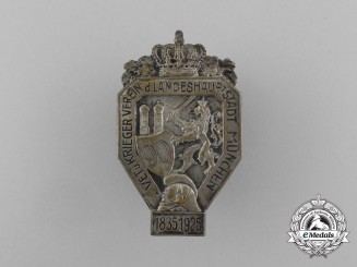 A Bavarian Capital of Munich Veterans and Warriors League 90th Anniversary Badge 1835-1925
