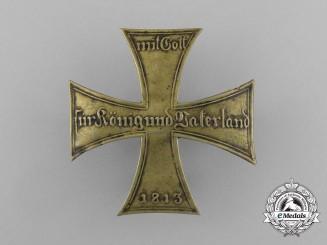 A Prussian Landsturm Landwehr Cross Cap Insignia