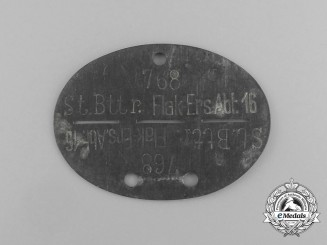 A Second War German ID Tag to the Flieger Ersatz Bataillon XII