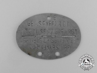 A Scarce German ID Tag to the 13th Kompanie; 48th SS-Freiwilligen-Panzer-Grenadier-Regiment