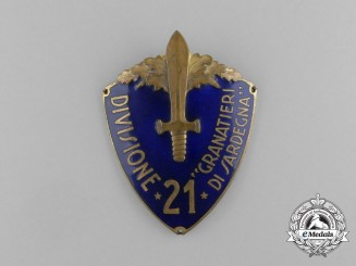 "An Italian 21st Infantry Division ""Grenadiers of Sardinia Sleeve Shield"