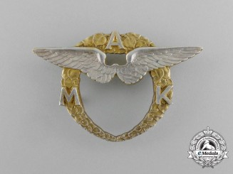 A 1920`s Czechoslovakian Moravian Aero Club Badge